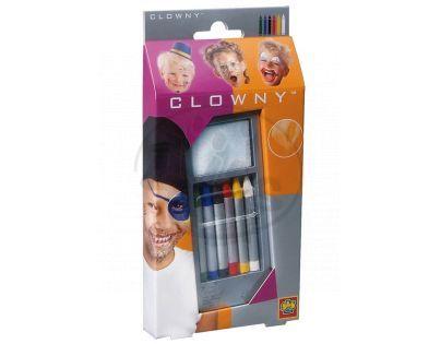 Clowny Barvy tužky na obličej 6 barev