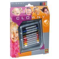 Clowny Barvy tužky na obličej 9 barev