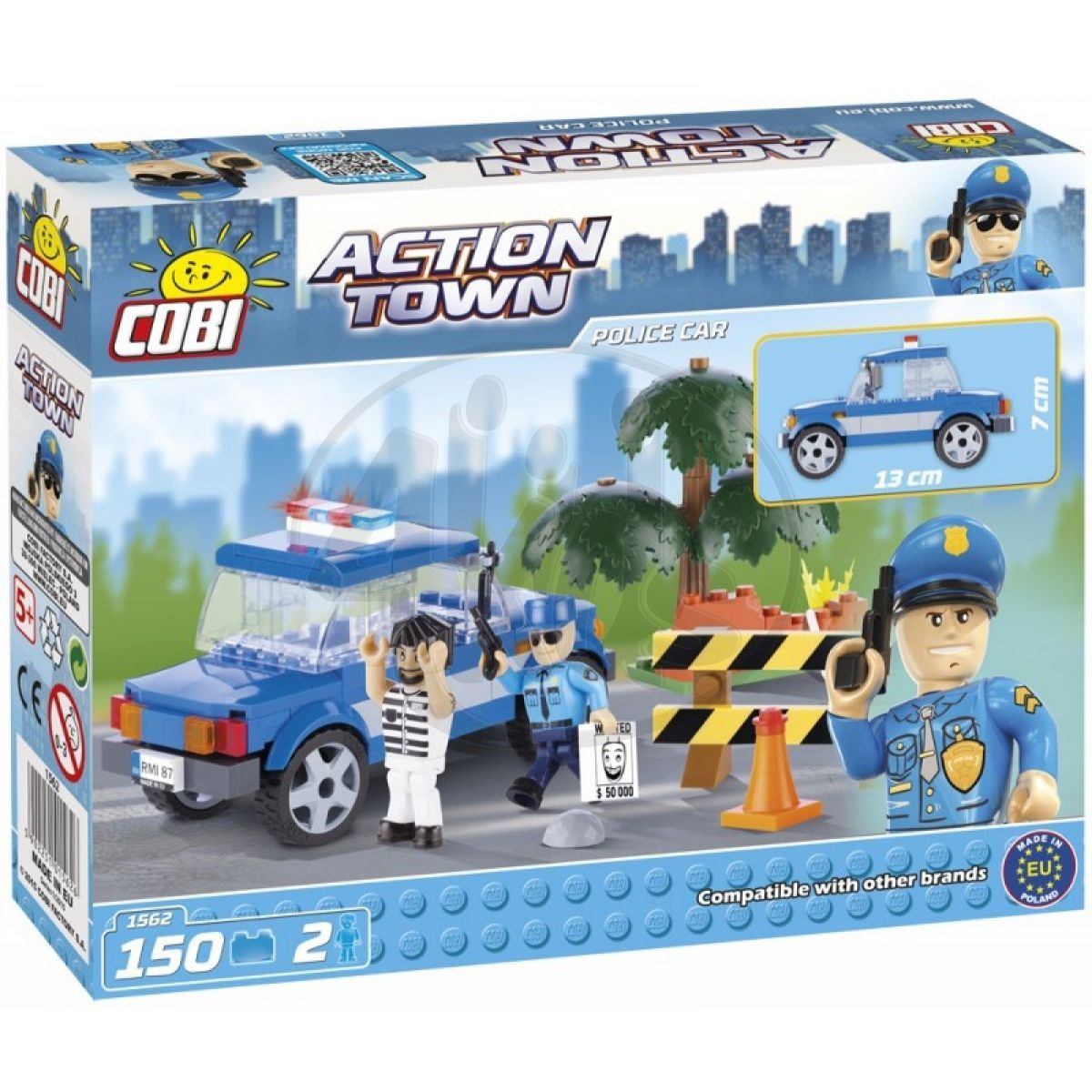 cobi action town 1562 policejn auto 4kids. Black Bedroom Furniture Sets. Home Design Ideas