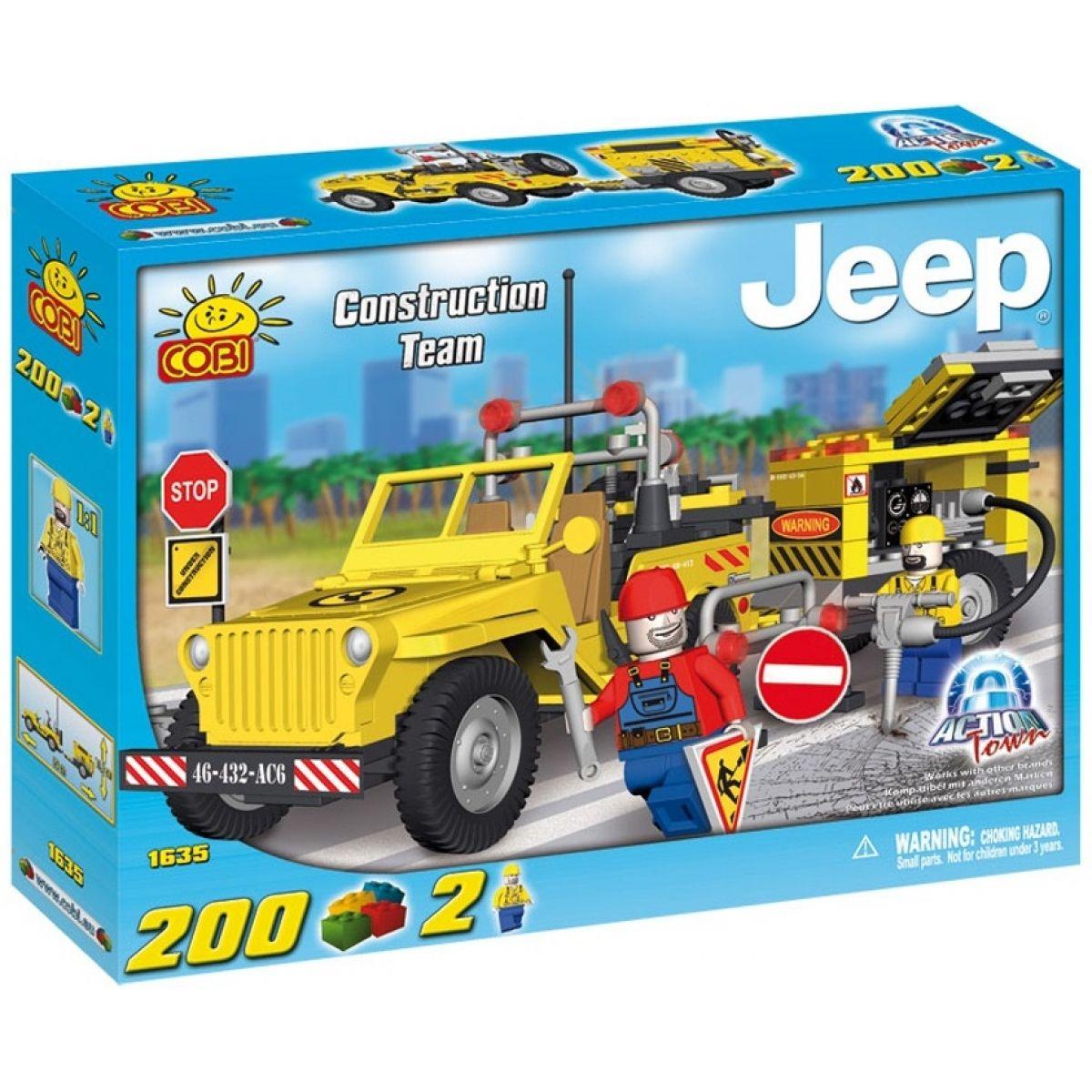 Cobi Action Town 1635 Stavební Jeep s kompresorem