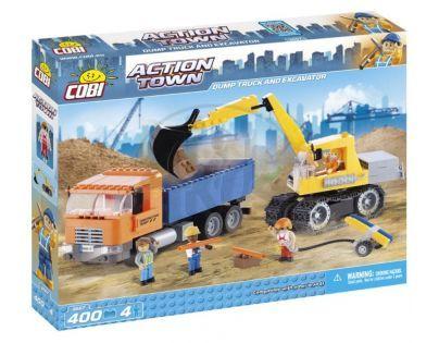 Cobi Action Town 1667 Sklápěčka a pásový nakladač
