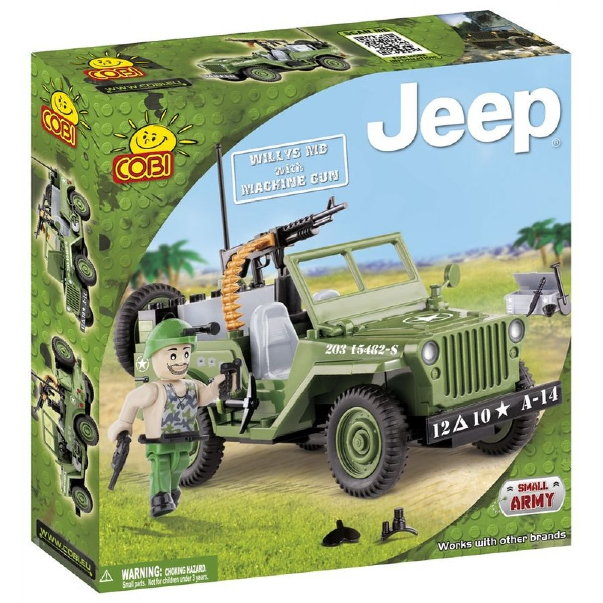 COBI 24090 - Jeep Willys - Jeep Willys s kulometem