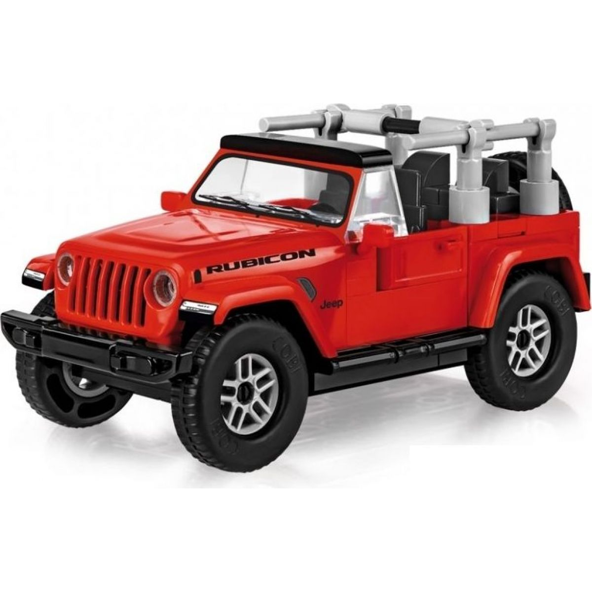 Cobi 24114 Small Army Jeep Wrangler Rubicon 1:35, červený, 94 k