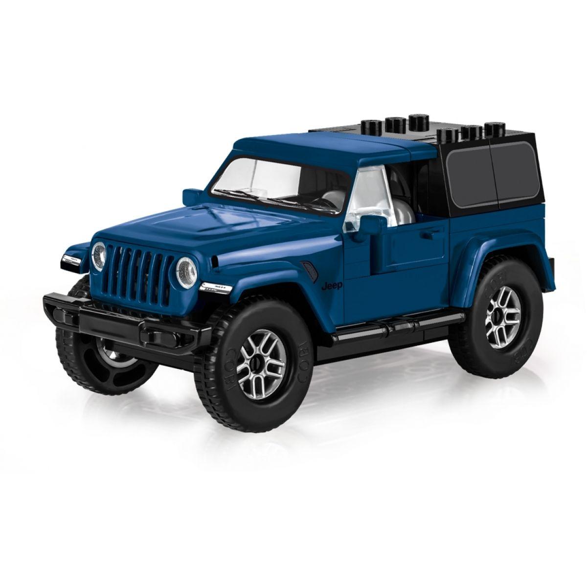 Cobi 24115 Small Army Jeep Wrangler Sport S, 1:35, modrý, 98 k