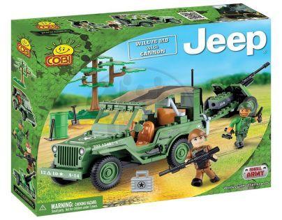 Cobi 24191 - Malá armáda - Jeep Willys MB with cannon