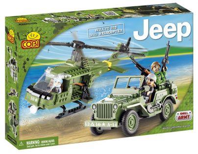 Cobi 24254  Jeep Willys MB s vrtulníkem