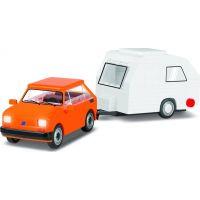 Cobi Youngtimer Polský Fiat 126 s karavanem