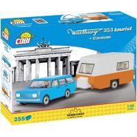 Cobi Youngtimer Wartburg 353 Tourist s karavanem