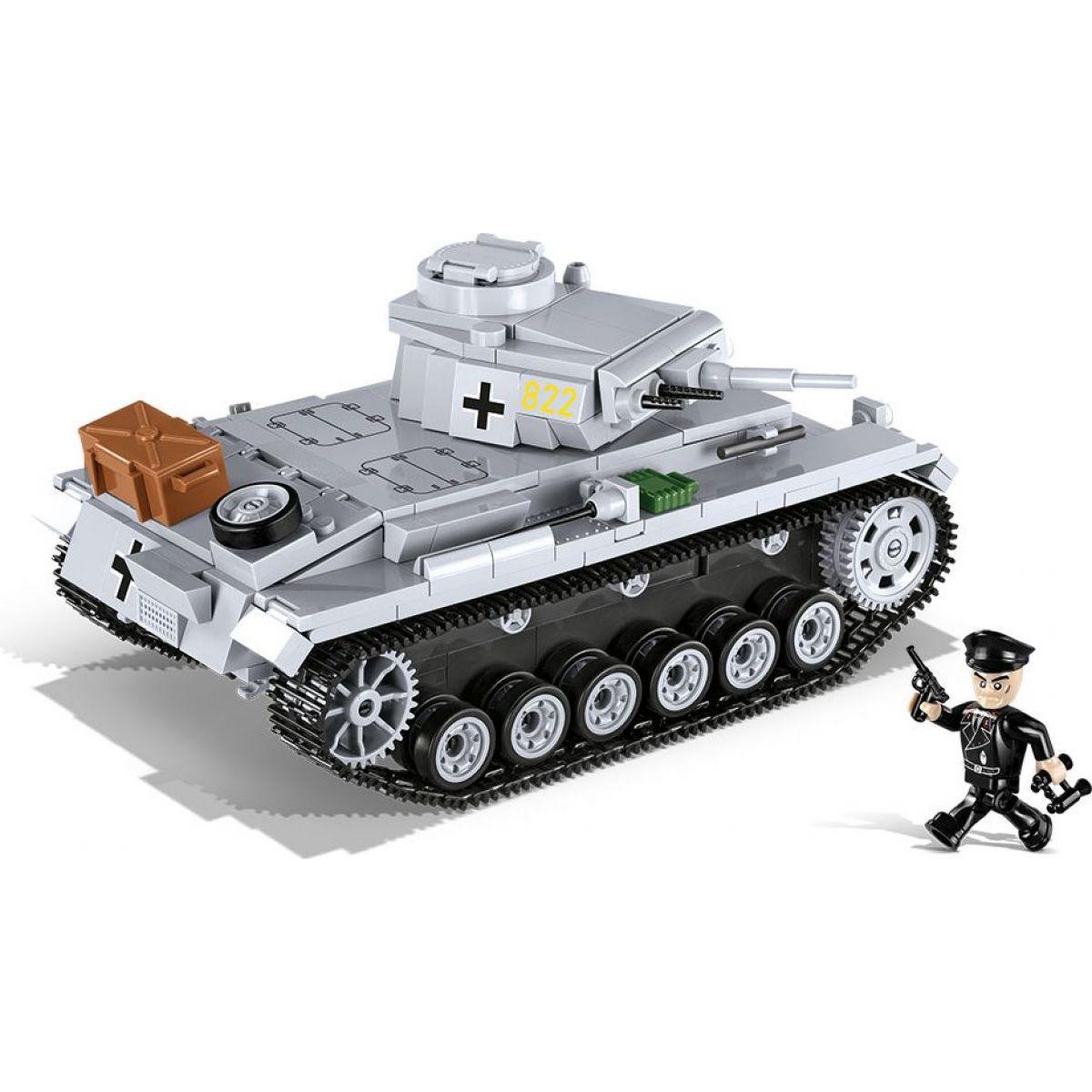 Cobi 2523 Malá armáda II. svetová vojna Panzer III Ausf E - Poškodený obal