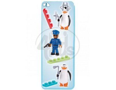 Cobi Tučňáci z Madagaskaru 26003 Tři figurky - Tučňáci a strážník