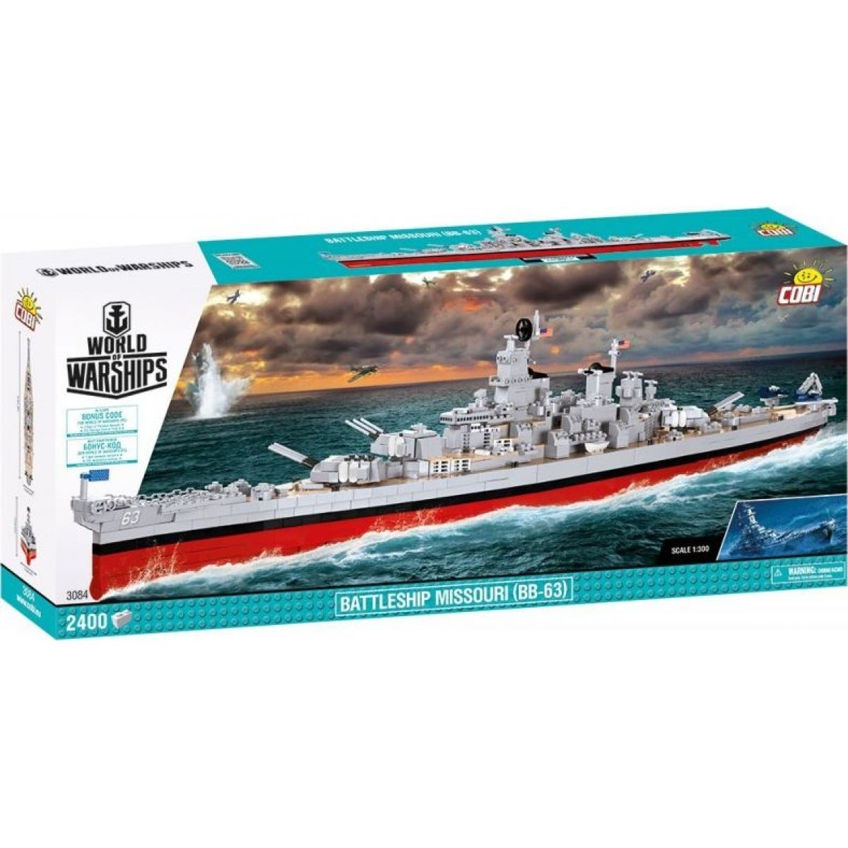 Cobi 3084 World of Warships Bitevník Misouri BB-63 1:300