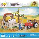 Cobi Action Town 1873 Farma traktor a kráva 4