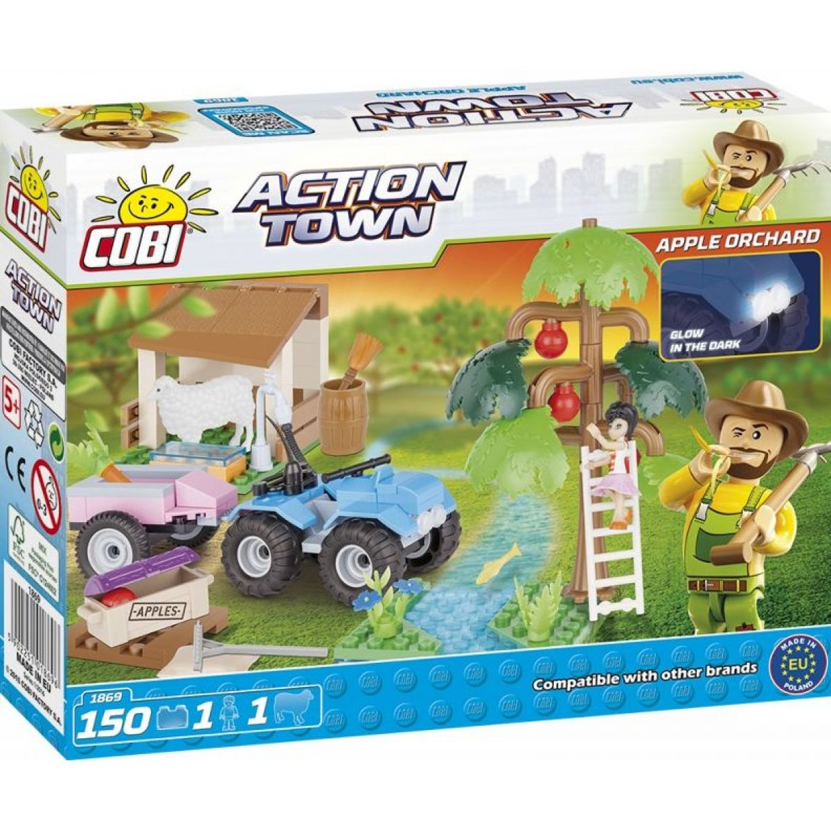 Cobi Action Town Farma ovocný sad 150 kostek