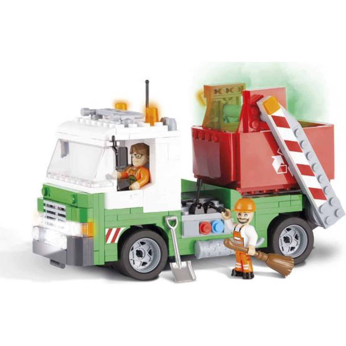 Cobi Action Town Popelářské auto s kontejnerem 260 kostek