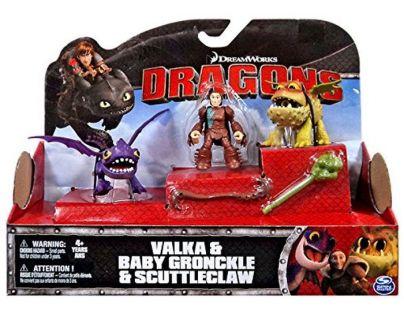 Cobi Jak vycvičit draka Drak a jezdec - Valka, Baby Gronckle a Scuttleclaw