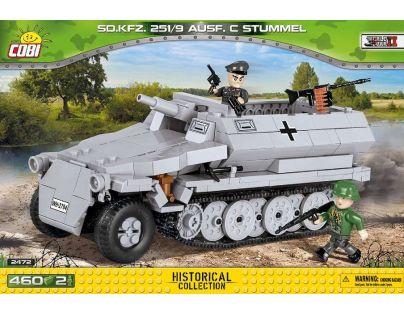 Cobi Malá armáda 2472 Sd.Kfz.251-10 Ausf. C šedé vozidlo