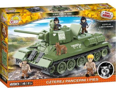 Cobi Malá armáda 2485 T34 Čtyři z tanku a pes