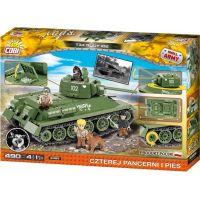 Cobi Malá armáda 2485 T34 Čtyři z tanku a pes 3