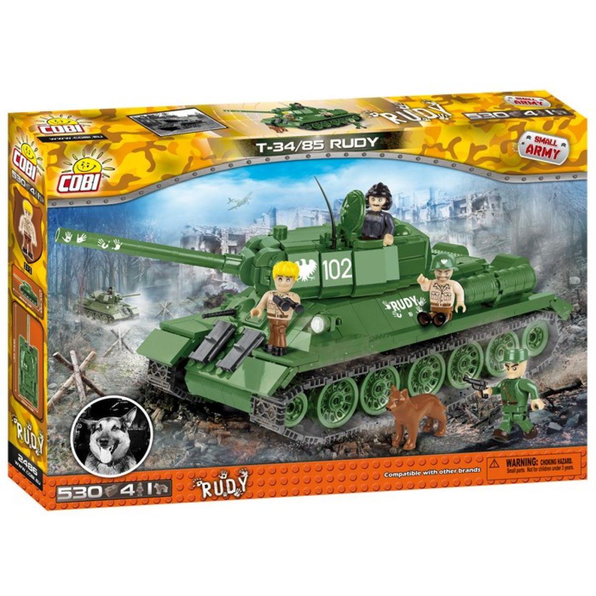 Cobi Malá armáda 2486 T-34 z filmu Čtyři z tanku a pes