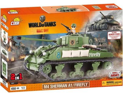 Cobi Malá armáda 3007 World of Tanks M4 Sherman A1/Firefly