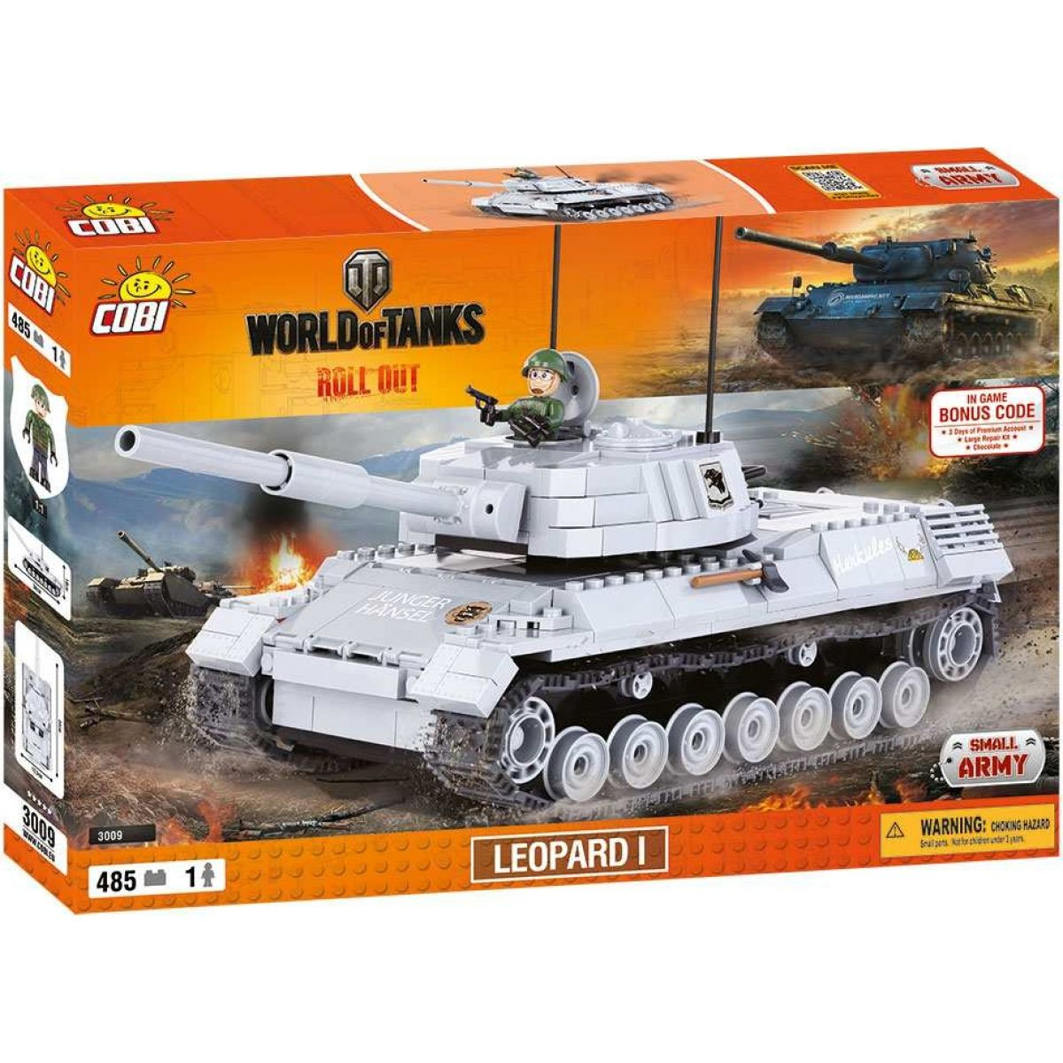 Cobi Malá armáda 3009 World of Tanks Leopard I