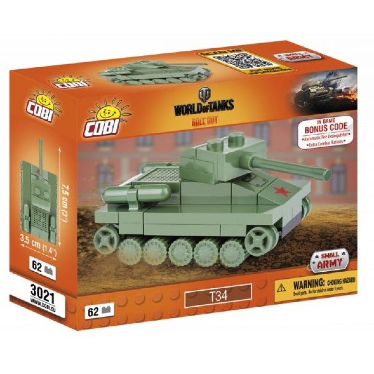 Cobi Malá armáda 3021 World of Tanks Nano Tank T-34