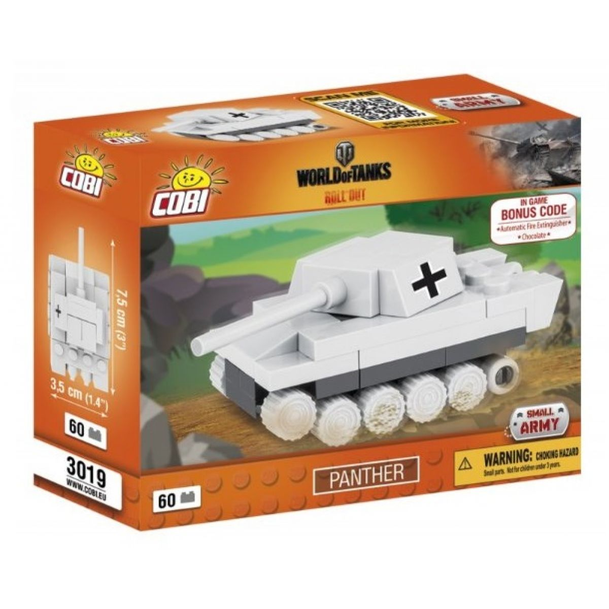 Cobi Malá armáda 3019 World of Tanks Nano Tank Panther