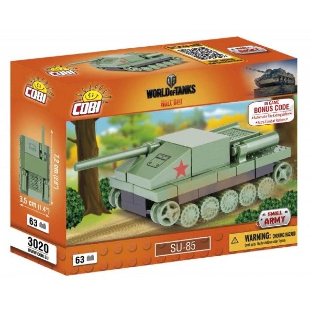 Cobi Malá armáda 3020 World of Tanks Nano Tank SU 85