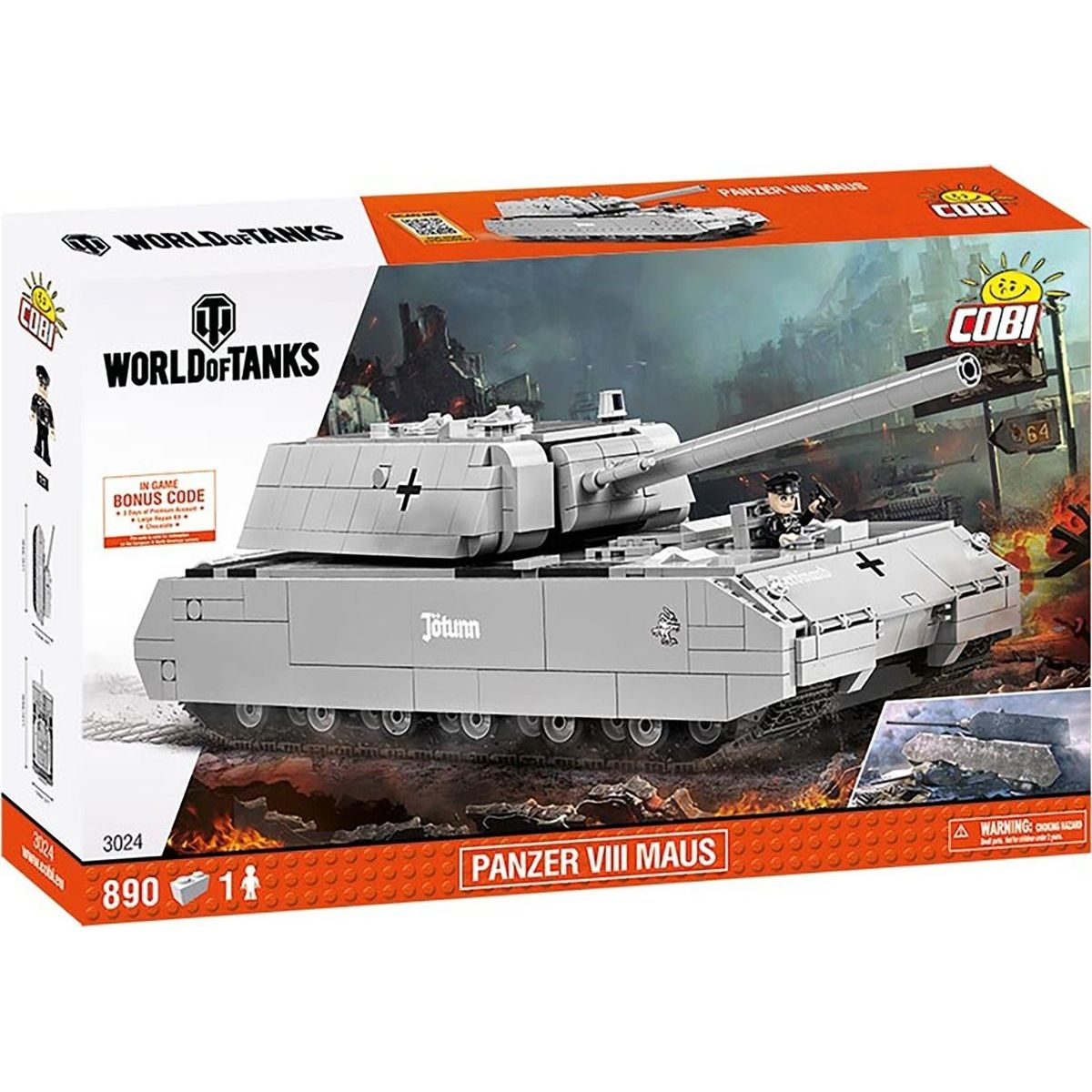 Cobi Malá armáda 3024  World of Tanks SdKfz 205 Panzer VIII Maus