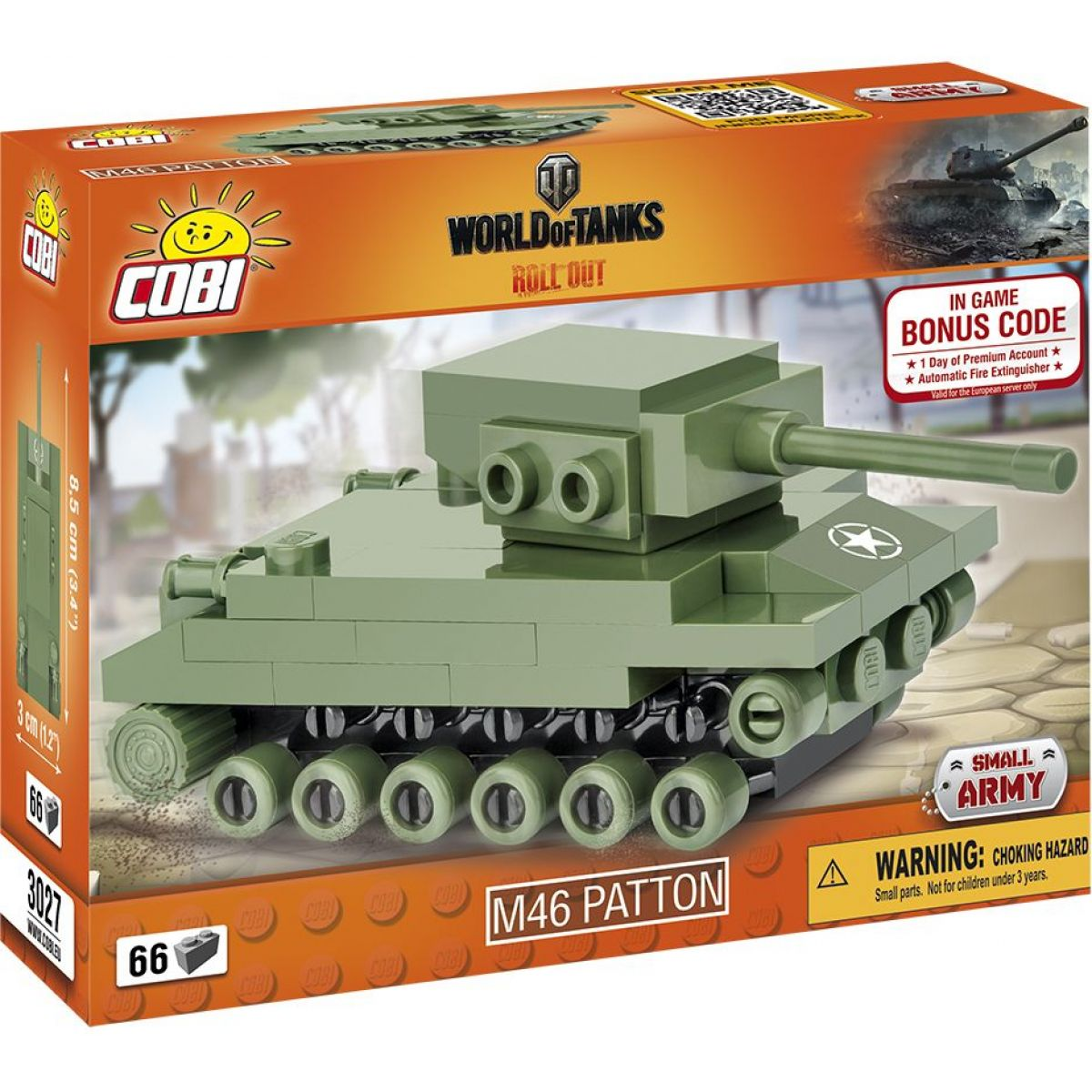 Cobi Malá armáda 3027 World of Tanks Nano Tank M46 Patton