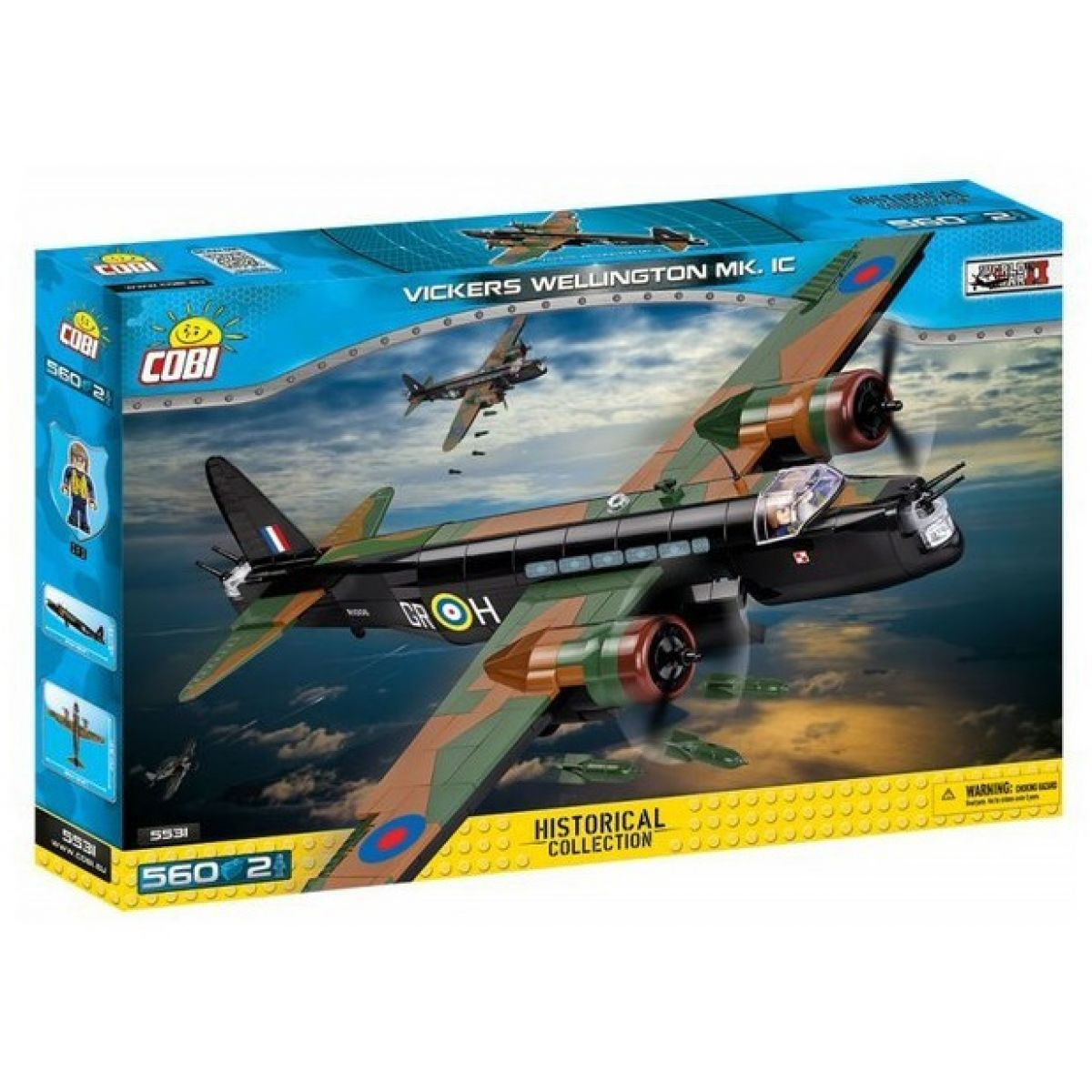 Cobi Malá armáda 5531 WW II Vickers Wellington Mk. IC