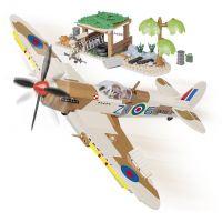 Cobi Malá armáda 5545 II WW Supermarine Spitfire Pouštní letiště