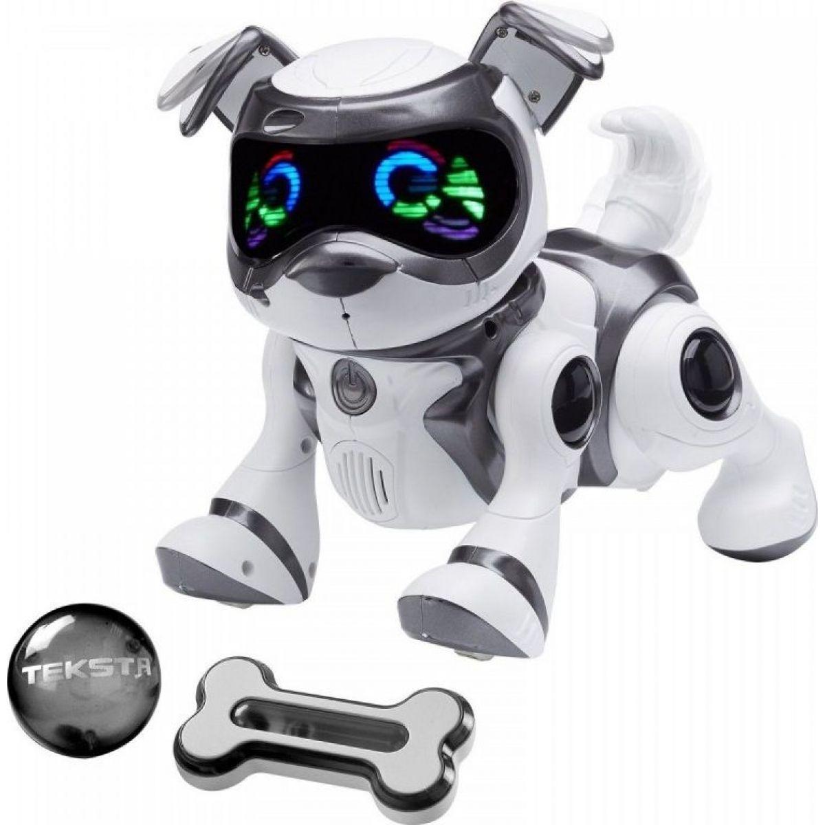 Cobi Teksta Robotické štěně ovládané hlasem - Bílo-černá
