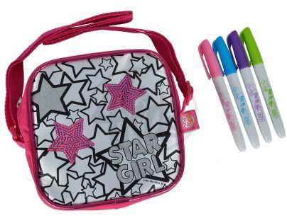 Color Me Mine Sequin Tote mini kabelka - Nápis Star Girl