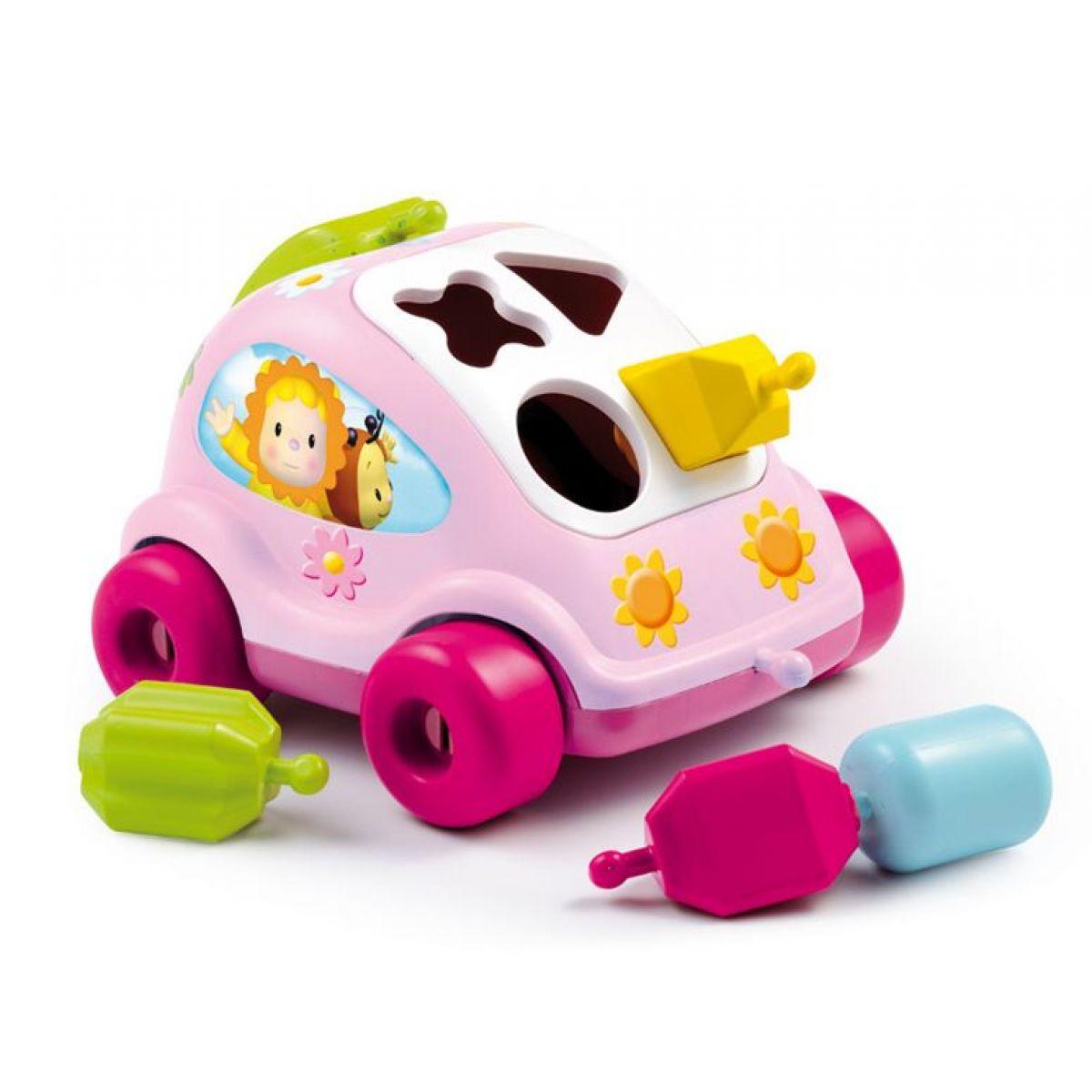 Cotoons autíčko vkládačka - Růžová