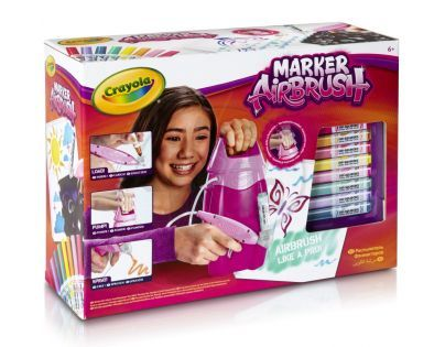 Crayola Marker Airbrush kreslící studio růžové