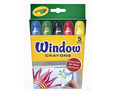 Crayola Voskovky na sklo 5 ks