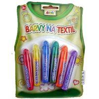 Creatoys Barvy na textil na blistru 6 x 7 ml