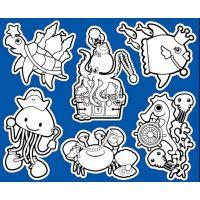 Creatoys Koupelnové samolepky 30 x 25 cm Želva a chobotnice