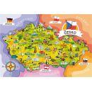 Creatoys Puzzle Mapa České republiky 120 dílků 2