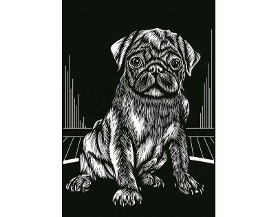 Creatoys Reeves Škrábací obrázek stříbrný 20 x 25 cm - Buldoček