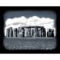 Creatoys Reeves Škrábací obrázek stříbrný 20 x 25 cm - Stone Circles