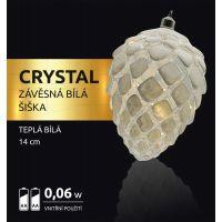 Marimex Crystal Závěsná Bílá Šiška 14 cm 2