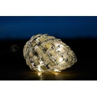 Marimex Crystal Závěsná Bílá Šiška 14 cm 5