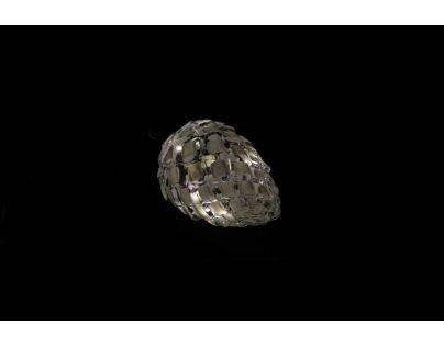Marimex Crystal Závěsná Bílá Šiška 14 cm