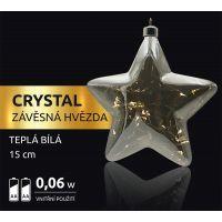 Marimex Crystal Závěsná Hvězda 15 cm 2