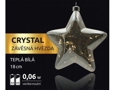 Marimex Crystal Závěsná Hvězda 18 cm