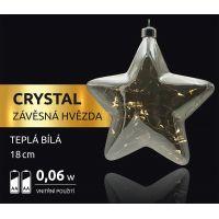 Marimex Crystal Závěsná Hvězda 18 cm 2