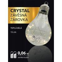 Crystal Závěsná Žárovka 15 cm 2