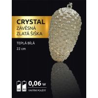 Marimex Crystal Závěsná Zlatá Šiška 22 cm 2